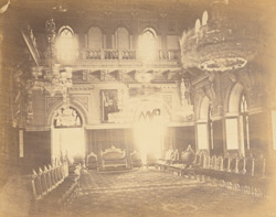 [View in the] Durbar Hall of the Bhuj palace